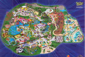 Six Flag Illinois Six Flags Great America Theme Park Map Gurnee Il Mappery And