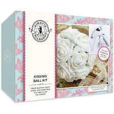 kirstie allsopp kissing ball kit includes cordless glue gun