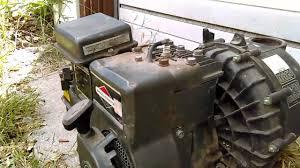 3 horsepower briggs and stratton horizontal shaft start up youtube