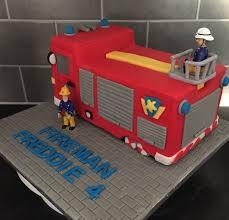 fireman sam jupiter fire engine cake cakes diane wilks
