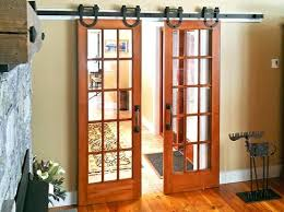 Installing Interior Sliding Doors Interior Barn Door Kit With Glass Panel Interior Barn Door Kit
