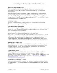 software test plan template preview of the unit test plan