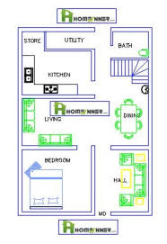 home plans free 840 sq ft single floor single bedrom 1bhk free house plan