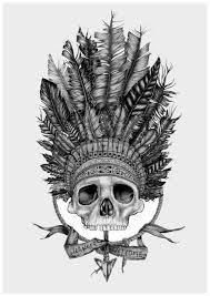 indian skull design drawings designs