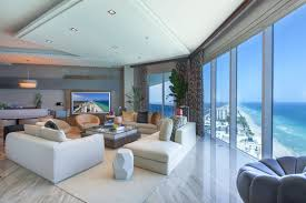 trump living room sky residence u0027 penthouse at trump hollywood asks 5m curbed miami