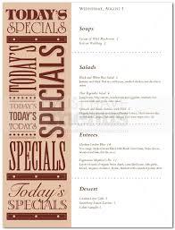 menu specials template 100 images menu template 34 free psd
