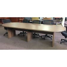 12 ft conference table cherryman amber 12ft racetrack top laminate conference table new