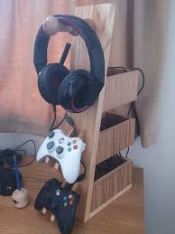 Video Gaming Desk by The Making Of A Headset And Controller Rack Headphones Headset