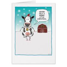 funny cow christmas greeting cards zazzle