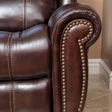 power leather recliner sofa abbyson living kingston leather power reclining sofa in brown sk