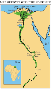 nile river on map the map of the nile river by itary thinglink