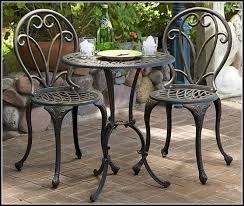 Wrought Iron Patio Bistro Set Camden 3 Piece Patio Bistro Set Patios Home Decorating Ideas