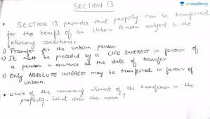 sections in law section 13 of transfer of property act important sections in
