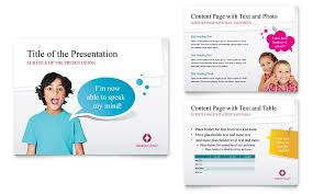 speech therapy education powerpoint presentation powerpoint template