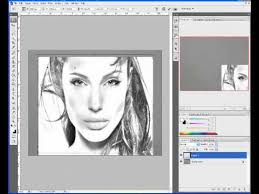 photoshop convert photo to pencil sketch youtube