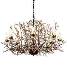rustic crystal chandeliers vintage rustic crystal chandelier