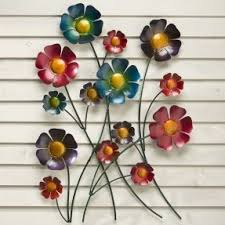 Metal Flower Wall Decor - metal flower wall hanging hollywood thing