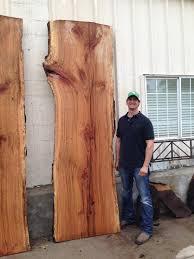 wood slab cherry bark oak slabs harden cabinets wood