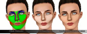 mod the sims full face contouring blush