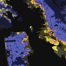 Oakland Ca Map San Francisco Oakland California U2013 Elevation And Population
