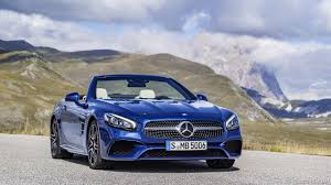 blue mercedes 2017 mercedes benz sl 500 amg line color brilliant blue front