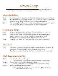 artist resume u2013 alexa zepp
