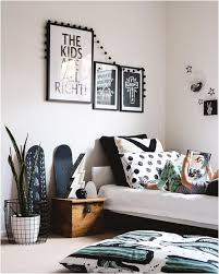 black and white southwestern style bedroom for boy or
