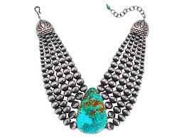 stone turquoise necklace images Five strand navajo pearl turquoise necklace by chavez and martin jpg