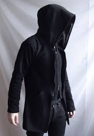 demon hoodie mens coat or suit like hoodie with large hood and