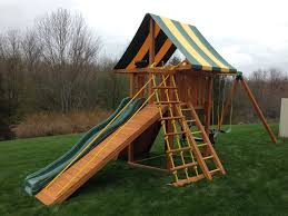 Striped Canopy by Exterior Swing Sets For Small Yards Backyard Fence Fences And