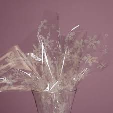 clear wrapping paper snowflake cellophane wrap dazzle lace