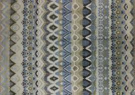 Blue Wool Rug Ikat Hand Knotted Wool Rug 10 X 14