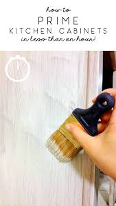 what type of paint brush for kitchen cabinets how to prime kitchen cabinets in less than an hour