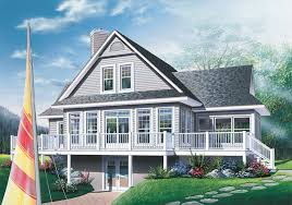 small cabin plans with basement fascinating waterfront house plans walkout basement small cottage