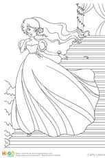 Coloriage Jasmine en Ligne Gratuit à imprimer