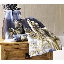 Bathroom Accessory Sets With Shower Curtain by Howling Wolf Shower Curtain Bathroom Wolf Howling At The Moon