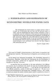sample of editorial essay formulation and estimation of econometric models for panel data inside
