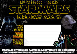 free star wars party invitation print childrens