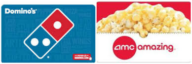 amc gift card deals 60 domino s gift card for 50 or 30 amc gift card for 25