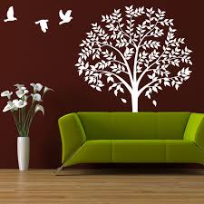 wall tree decal large tree forest nature wall decor bedroom
