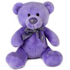teddy bears purple gleeful teddy at best prices in india archiesonline