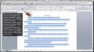 apa template for apple pages formatting an apa style references page ms word for mac 2011 youtube