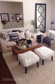 apartment living room decorating ideas mar 2 2 home tour joan s home stools trays and fur