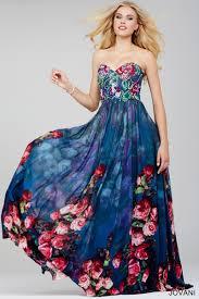 jovani 24022 rose print prom dress madamebridal com