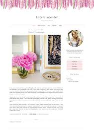 premade blogger template simple pastel floral clean blog