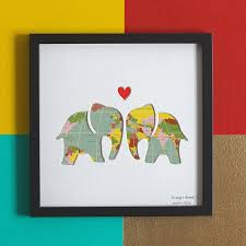 wedding gift map always and forever elephant wedding gift map by bertie