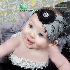 feather headbands baby girl infant headband bow peacock feather fascinator headband
