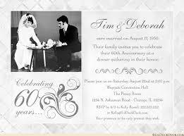 fashionable 60th anniversary photo invitation vintage wedding sixty
