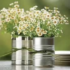 Tin Flower Vases 20 Cute Flower Centerpieces For A Bridal Shower Shelterness