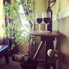 simple wooden corner wine racks design features wooden polished